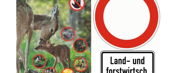 Wirtschaftswege, Wald und öffentliche Grünflächen – Hinweis an Autofahrer, insbesondere auch Quad- und Cross-Motorrad-Fahrer