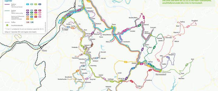Neue Linien des Busnetzes Ruwertal-Hochwald ab 01.09.2021
